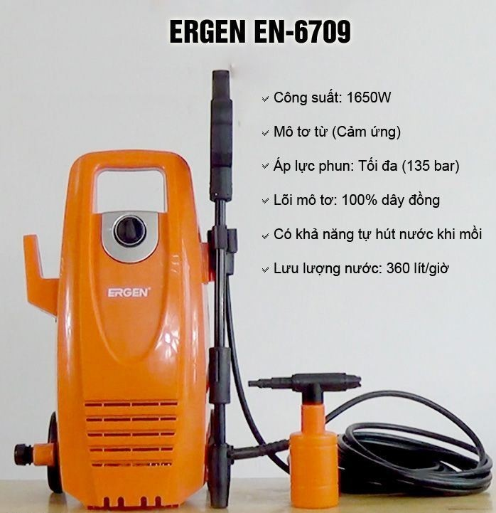 Máy xịt rửa xe Ergen EN-6709 (1650W)